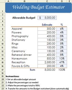 Fillable #Wedding #Budget #worksheet. To help plan your wedding and ...
