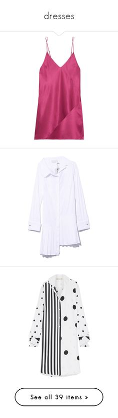 """""""dresses"""" by quinie100 ❤ liked on Polyvore featuring intimates, shapewear, dresses, white, t-shirt dresses, pleated dresses, asymmetrical shirt dress, shirt dress, white shirt dress and tops"""