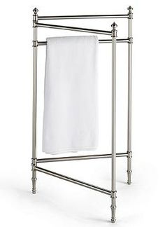 Treat your guests to a five-star stay experience with the Belmont Folding Towel Rack that features an easy-to-fold steel construction for style and convenience.