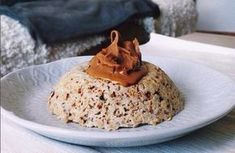 Easy and quick coconut and chocolate bowlcake recipe, delicious! Instant Pudding, Chia Pudding, Bowl Cake, Ww Desserts, Cooking Recipes, Healthy Recipes, Healthy Breakfasts, Juice Plus, Christmas Pudding