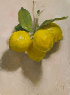 daily painting titled Lemons Julian Merrow-Smith