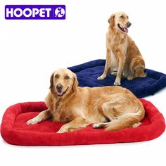 ac573053eb9 HOOPET Large Dog Bed Big Size Pet Cushion Warm Sleeping Bed Golden  Retriever Cage Mat Pet