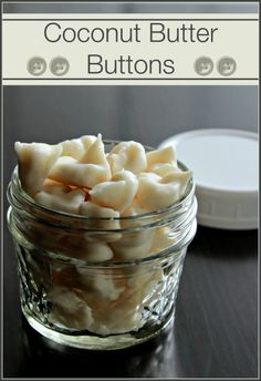 Coconut Butter Buttons...if his allergy test come back negative.