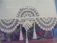 Tulle Curtains, Crochet Curtains, Rustic Curtains, Thread Crochet, Crochet Motif, Crochet Lace, Diy And Crafts, Paper Crafts, Linens And Lace