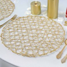 Search for Unique Party Supplies and Home Decoration Items at efavormart. Buy the Latest Trending Metallic Woven Round Table Placemats, Metallic Charger Plates, Beaded Metal Server Trays, and more! Gold Wedding Theme, Gold Wedding Decorations, Wedding Events, Wedding Reception, Decorative Accessories, Decorative Items, Casual Table Settings, Placemats For Round Table, Gold Chargers