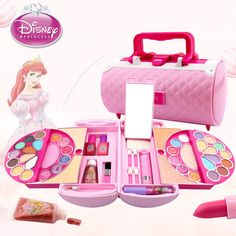 Special offer Disney Pretend Play Beauty Fashion Toys Children's Cosmetics Princess Makeup Set Girl Toys Portable - Click the pics for details! Little Girl Makeup Kit, Makeup Kit For Kids, Little Girl Toys, Baby Girl Toys, Kids Makeup, Toys For Girls, Makeup Toys, Makeup Set, Makeup Brush