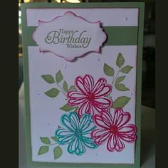 Quick birthday card. StampinUp products used.