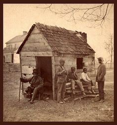 Slaves and slave cabin