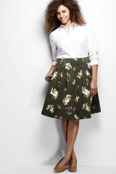 Women's Plus Size Ponté A-line Skirt