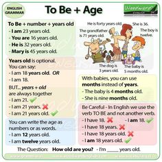 To Be + Age / How old are you?