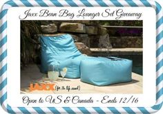 Jaxx Bean Bag Lounger Set Giveaway ~ $300 value!! Open to USA & Canada!!  (ends 12/16)  Great for Indoor and/or outdoor use!!  Enter NOW