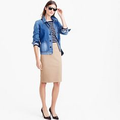 J.Crew+-+No.+2+pencil+skirt+in+bi-stretch+cotton