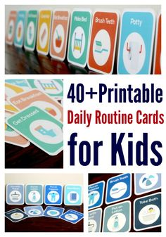 These printable routine cards made our toddler routines so much easier!   Stay at home mom schedule   Toddler schedule   Printables