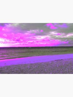 """""""Early morning sandy beach and sea - shades of purple and pink"""" Metal Print by Artlajf   Redbubble Modern Pop Art, Exotic Beaches, Shades Of Purple, Early Morning, Nature Photos, Photo Art, Canvas Prints, Wall Art, Creative"""
