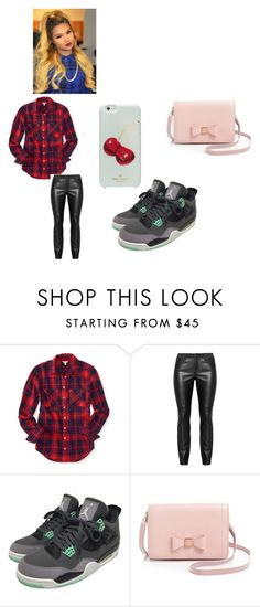 """heeeeyyyyy!!!"" by bae03 on Polyvore featuring Aéropostale, NIKE, Ted Baker and Kate Spade"