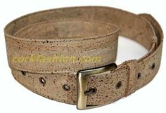 Cork Belt (model RC-GL0104001041) - Eco-friendly - made of real cork. From www.corkfashion.com