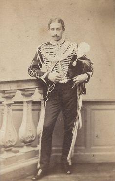 Sous Lieutenant, grande tenue de service avant 1860 (port du cordon de talpack)