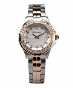 Bombshell Women's BS1073-2TONE(ST./ROSE) Harmony Swarovski Crystal Stone Case 2-Tone Rose Gold Stainless Steel Bracelet Watch Bombshell. $99.99. Water-resistant to 50 M (165 feet). Matt silver dial. 80 Swarovski crystal stone bezel. Sophisticated dial design. Dazzling colorful gift box. Combination brushed and polished stainless steel bracelet