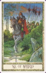 Druid Craft Tarot - six of wands