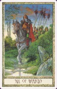 Druid Craft Tarot - six of wands