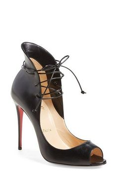 6dc43864a82d Christian Louboutin  Megavamp  Flared Peep Toe Pump available at  Nordstrom  Red High Heel