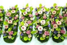 Miniature Garden Polymer Clay Flowers Supplies for Dollhouse, 1 piece