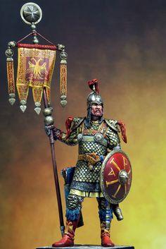 Византийский воин со штандартом.