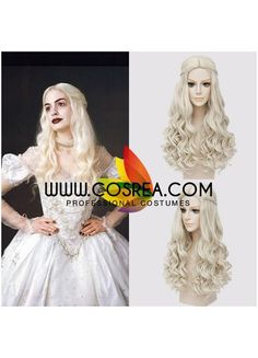 Wig Detail Alice Through The Looking Glass White Queen Cosplay Wig Includes: Wig, Hair Net Important Information: Fitting - Maximum circumference of 55-60CM Material - Heat Resistant Fiber Style - Com