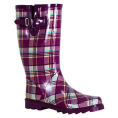 rubber boots - I have pink ones like this! :) love 'em