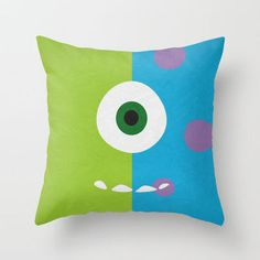 Monsters Inc - Minimalist Poster 02 Throw Pillow by Misery from Saved to Pillows! Monsters Inc Nursery, Monster Nursery, Monster Room, Monsters Inc Baby, Monsters Ink, Cute Pillows, Throw Pillows, Boy Room, Kids Room