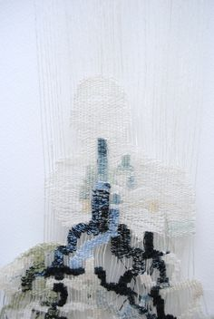 Detail - woven tapestry, bleached linen, cotton, raw silk. from: www.cos-ahmet.co.uk
