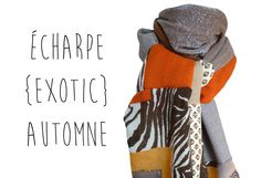 Echarpe Maxi Automne Hiver Laine Zèbre Marron Motifs Modèle Unique : Echarpe, foulard, cravate par lefil