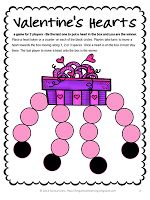 Valentine's Hearts FREEBIE from Games 4 Learning - Valentine's Board Game