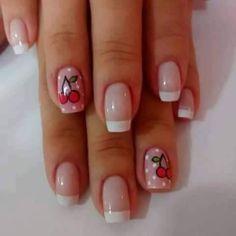 Manicure Y Pedicure, Manicure Ideas, Easy Nail Art, Simple Nails, Short Hair Styles, Beauty, Nailart, Anna, Kawaii