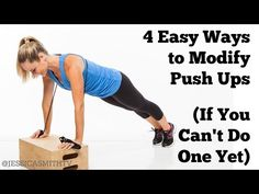 4 Easy Ways to Modify Push Ups If You Can't Do One Yet - How To Do a Push Up Correctly for Beginners - YouTube