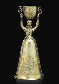 silver gilt wager cup - meinrad bauch - nuremberg germany - circa 1603-1609 - yves saint laurent + pierre bergé collection