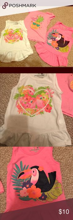 Three jumping beans summer tops Three size 3T summer jumping beans tops jumping beans Shirts & Tops