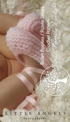 ballet booties crochet pattern from Sunset Family Living