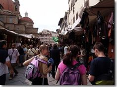 The San Lorenzo leather market.