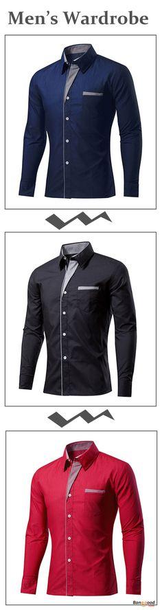 Camisa Social Masculina Manga Longa Casual Formal Moderna Confortável
