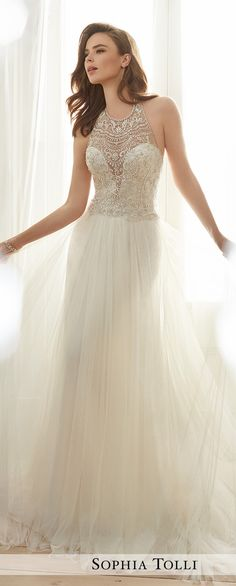 Wedding Dress by Sophia Tolli Spring 2017 Bridal Collection | Style No. » Y11714 Celestia