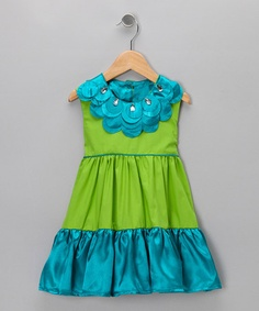 Take a look at this Aqua & Turquoise Gianna Dress - Toddler & Girls by Tutu Moi on #zulily today!