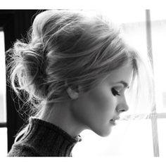 Brigitte Bardot makeup + bedhead messy updo.