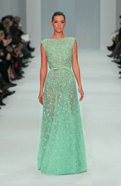 ELIE SAAB Haute Couture Spring Summer 2012, i've never liked mint so much!