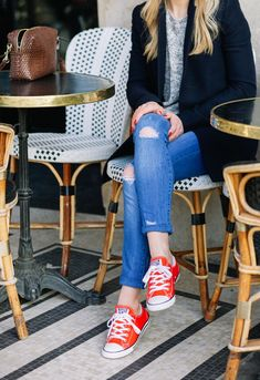 red sneakers via Make Life Easier