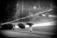 Ainsley and Joshua in the rain