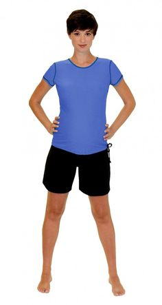 7a9e432370b0c Mermaid Maternity - Maternity Rash Guard Swim Shirt - Periwinkle, $45.00  (http:/