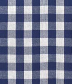 "1"" Navy Blue Gingham Fabric - $3.75 | onlinefabricstore.net"