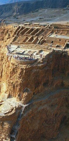 Masada at the Dead Sea - an ancient fortification (31 BC-70 AD)