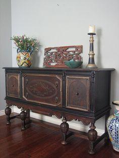 European Paint Finishes: Old World Sideboard ~ Refurbished Furniture, Paint Furniture, Repurposed Furniture, Sofa Furniture, Furniture Projects, Furniture Makeover, Furniture Design, Furniture Websites, Furniture Online